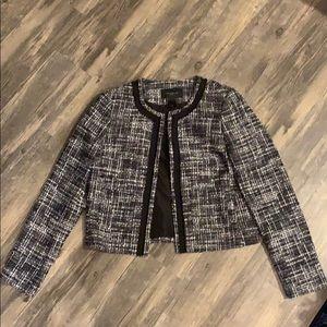 Ann Taylor Tweed Pocket Jacket Size Small